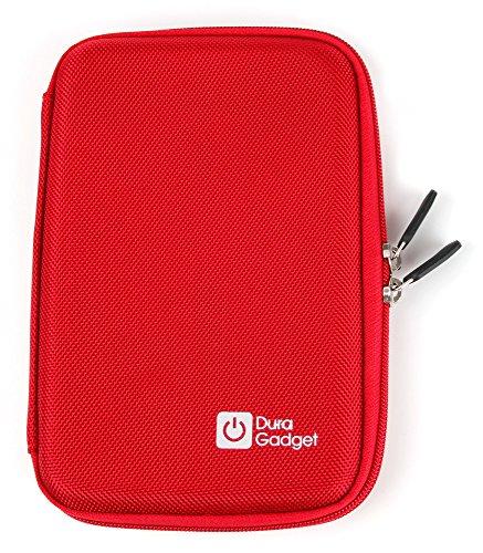 DURAGADGET Hartschalen-Etui (Rot) für Diabetiker - zum Transport von ihrem Stift oder Pen und anderem Zubehör