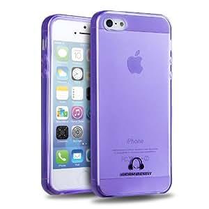 [Lifetime Hassle Free Warranty] Gear Beast GripJelly Apple iPhone 5 / 5S Flexible Glossy TPU Case (Purple)