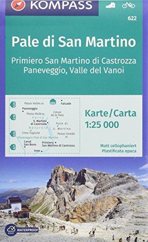 KOMPASS Wanderkarte Pale di San Martino, Primiero San Martino di Castrozza, Paneveggio, Valle del Vanoi: Wanderkarte mit Radrouten. GPS-genau. 1:25000 [Lingua tedesca]: 622