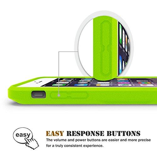 iPhone 6 Plus / iPhone 6S Plus Hülle - Fintie [CaseBot Serie] Slim Fit Schutzhülle Tasche Case Etui mit TPU Rahmen - Preimiun halb-transparent Hardcover Rückschale für Apple iPhone 6 Plus / iPhone 6S  Slim Fit-Grün