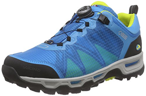 Viking Dis Boa Gtx, Bottines de randonnée homme Bleu - Blau (Blue/Yellow 3513)