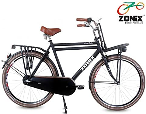 Herren Hollandrad Zonix City 3 Gang 28 Zoll schwarz 57 cm