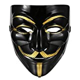 Vendetta Maske, Cindere Guy Fawkes Anonymous Replika Demo Anti Mask für Karneval Halloween Cosplay