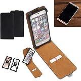 K-S-Trade Flipstyle Hülle für Cubot Cheetahphone Handyhülle Schutzhülle Tasche Handytasche Case Schutz Hülle + integrierter Bumper Kameraschutz, schwarz (1x)