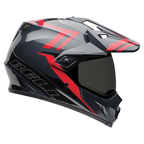 Bell Powersports MX-9 Adventure Motorradhelm, Mehrfarbig (Barricade Rot), M