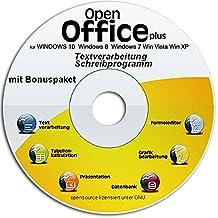Open Office Premium 2017 CD DVD voll kompatibel zu Microsoft Word und Excel -Für Windows 10 Windows 7, Win 8,XP und Vista