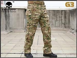 Tactique militaire de l'armée de tournage EDR hommes Gen3 G3 Combat Pantalons Pantalon avec genouillères pour Airsoft Multicam MC