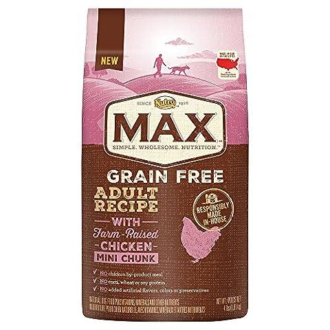 Nutro MAX Adult Grain Free With Farm Raised Chicken Mini Chunk Dry Dog Food, 4 lbs. by Nutro