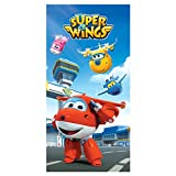 Super Wings - Toalla de algodón 70x140 cm (ColorBaby 77004)