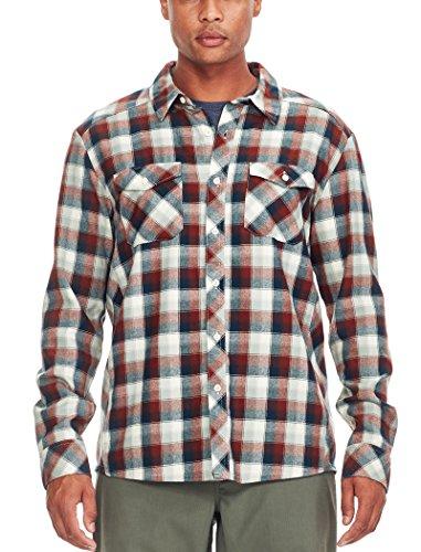 Icebreaker Herren Lodge Long Sleeve Flannel Shirt Hemd Saddle/Nori Hthr/Plaid