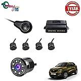 #3: myTVS TPK-57 Black Reverse Car Video Parking Sensor Kit with 8 LED Night Vision Camera for Renualt Kwid