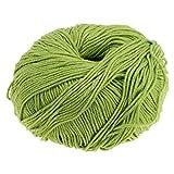 Daily Mall Handstrickgarn, Häkelgarn, Baumwolle 50g Perfekt Für Stricken - Grün