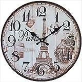 perla pd design orologio da parete cucina Design Torre Eiffel 3 ca. Diametro: 33 cm