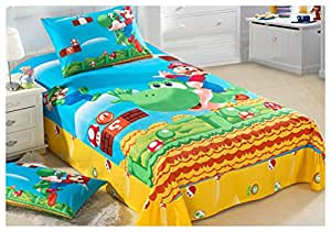 cartoon anime 4 teilig einem babykleidung 100 baumwolle super mario yoshi gedruckt decke. Black Bedroom Furniture Sets. Home Design Ideas