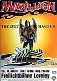 Marillion - The Cult Magnum, Loreley 1987 » Konzertplakat/Premium Poster | Live Konzert Veranstaltung | DIN A1 «