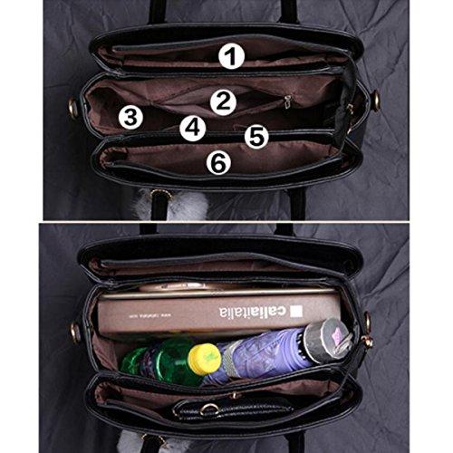 Verheiratet Beutel Brautbeutel Art Und Weise Große Taschen Große Kapazität Handtaschen Lässig Elegant Schulterbeutel Kurierbeutel Motorradbeutel Black