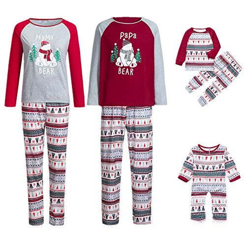 Weihnachten Familie Pyjamas Outfit Schlafanzug Nachtwäsche Damen Herren -