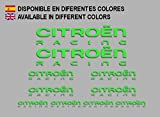 Ecoshirt 8K-8VN6-WQI4 Autocollants pour Citroën F210 Stickers Aufkleber Decals Autocollants Voiture Rallye Racing WRC, Vert