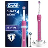 Oral-B Smart Series 4000 Electric Rechargeable Toothbrush Powered by Braun – 3D White – Ships with a UK 2 pin plug
