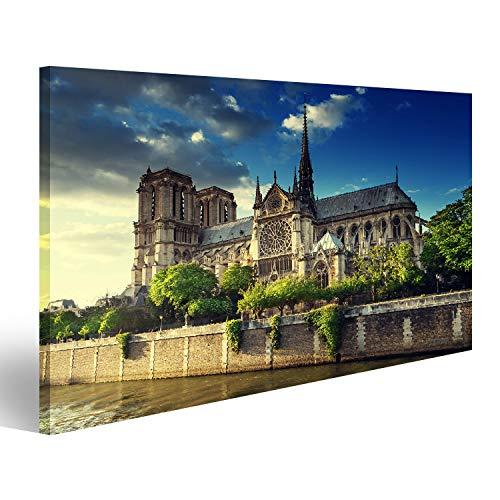 islandburner Bild auf Acrylglas Notre Dame de Paris, Frankreich Wandbild Acrylglasbild Glasbild UDO