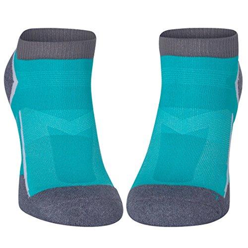 Low-Cut Pro Running Socks (Karibik-Blau – 1 Paar, EU 43-47)