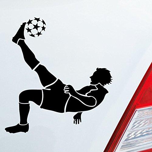 Auto Aufkleber in deiner Wunschfarbe Fussball Fußball Kicker Soccer 10x11 cm Autoaufkleber Sticker Folie (Kicker-auto-aufkleber)