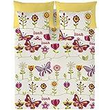 Valentina Juego De Funda Nórdica Two Butterflies Multicolor Cama 90 (150x220 cm/1+45x110 cm)