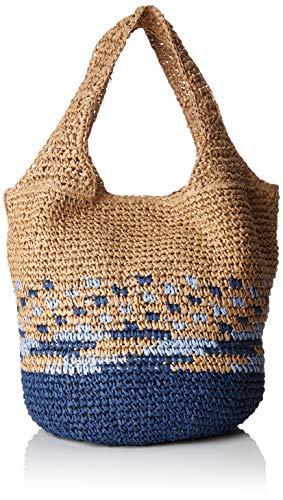 Blau Stroh Handtaschen (Esprit Accessoires Damen Ruth Shopper Schultertasche, Blau (Dark Blue), 23x34x31 cm)