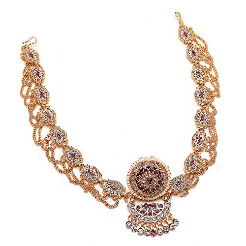 Jewar Mandi Rajasthani Matha Patti Polki Stone Jewelry for Women