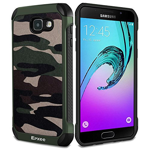 Coque Samsung Galaxy A3 2016, Epxee Silicone [Anti Choc] Protection Etui Housse pour Samsung Galaxy A3 2016 (Camo-001)