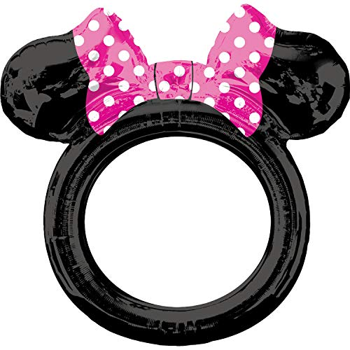 Amscan 3818701 - Marco para selfies con diseño de Minnie Mouse, color negro, rosa y blanco , color/modelo surtido