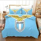 gaodashang Bettwäsche Bettbezug dreiteilige 3D-Fußball-Riese Lazio_Sing (150 * 200)