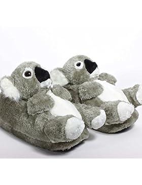 Sleeper'z Hausschuhe Koala - Rutschfeste Plüsch Tierhausschuhe