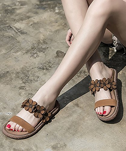 CHAOXIANG Pantofole Da Donna Antiscivolo Ciabatte Piatte Sandali Da Surf Nuova Estate Ciabatte Spiaggia ( Colore : B , dimensioni : EU35.5/UK4/CN36 ) A
