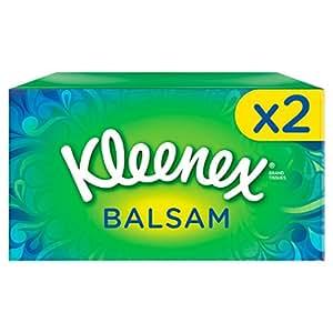 Kleenex Balsam Tissues - 2 Box Pack (160 Tissues Total)