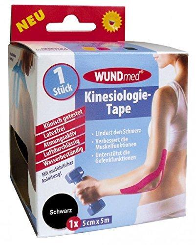 Wundmed Kinesiologie-Tape 5 cm x 5 m - SCHWARZ