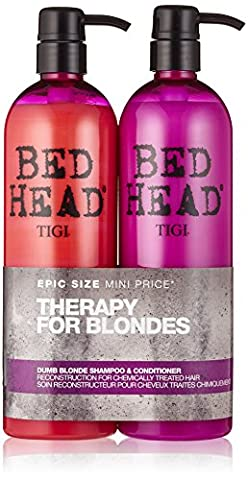 BED HEAD by TIGI Dumb Blonde Tween Duo Repair Shampoo & Reconstructor Conditioner for Coloured Hair - 750 ml (Pack of