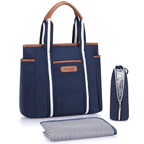 S-ZONE Baby Windel Große Handtasche mit Wickelauflage und isolierte Tasche Tote