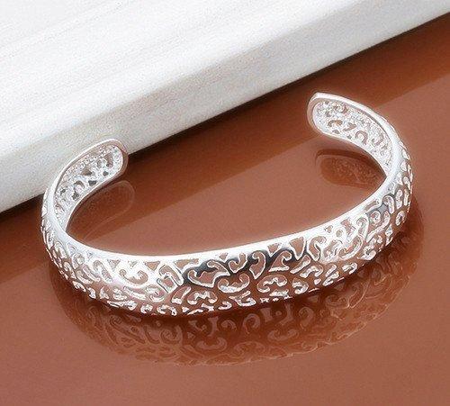 Skyllc® De moda de plata 925 plateó la vendimia de la aleación del brazalete