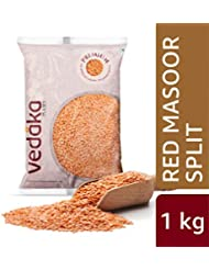 Amazon Brand - Vedaka Premium Red Masoor Dal Split, 1 kg