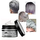 Temporäres silbernes graues Haarfarbe-Wachs, Lasree temporäres Wegwerf-Frisur-Wachs für Party, Cosplay, Nachtklub, Maskerade, Halloween