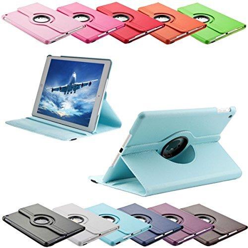 SVS-Trade 360 ° Tasche für Apple iPad 2/3 / 4 routierbar mit Ständerfunktion Schutz Smart Cover Case (iPad 2/3 / 4, Hellblau)