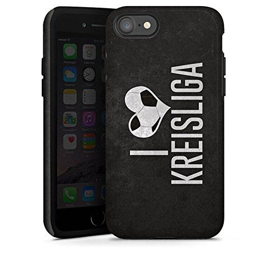 Apple iPhone X Silikon Hülle Case Schutzhülle Ich Liebe Kreisliga Fußball Bier Tough Case glänzend
