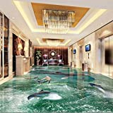 Custom flooring 3d large beach waves living room shopping mall entertainment 3d floor tiles painting,300cmX210cm