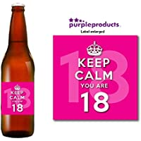 Keep Calm Pink you are 18 Happy 18th