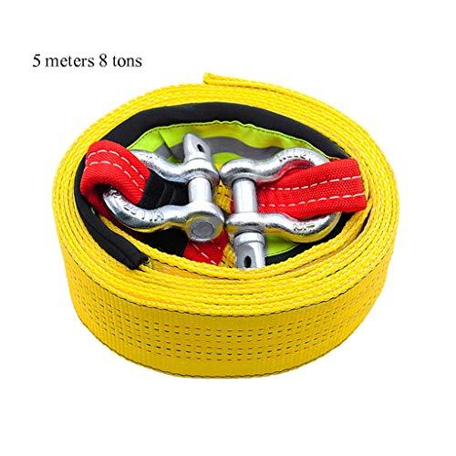 8 Tonnes Corde de Remorquage de Voiture 3 Meters Keenso 18000LB Sangle de Remorquage C/âble de Remorquage de Secours avec Crochets de S/écurit/é /à Bande R/éfl/échissante