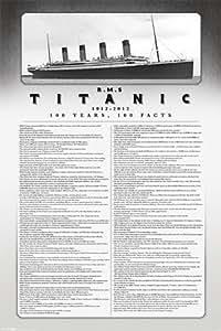 100 Ans, 100 Faits Titanic Poster Grand Format 61 x 91.5 cm