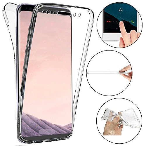 Samsung Galaxy S8 Hülle, ToDo 360 Grad Full Body Cover Transparent TPU Silikon Schutzhülle für Samsung Galaxy S8 HandyHülle Ultra Dünn Weiche Leicht Tasche Etui Protective Case Stoßfest Kratzfest Schale