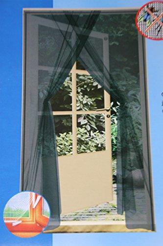 Mako moustiquaire pour porte noir 2 x 75 x 220 cm