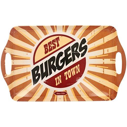 New YorkTablett, Melamin, Vintage-Optik: USA Fast Food Best Burger